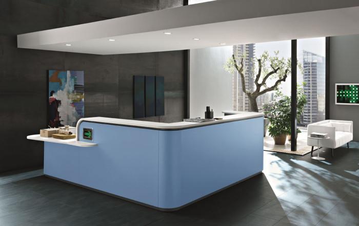 Welcome reception arredamento interni nuova tecnocopy for Mobile reception ufficio